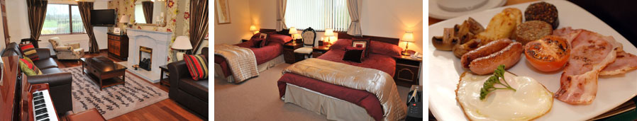 Keef Halla Country House - photos of guest rooms, bedrooms and breakfast
